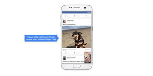 Se Facebook videoer imens du scroller igennem dit news feed