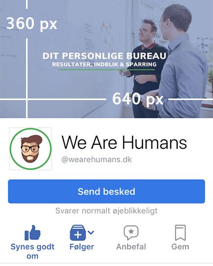 Facebook billedstørrelser Facebook coverbillede størrelse mobil 2018
