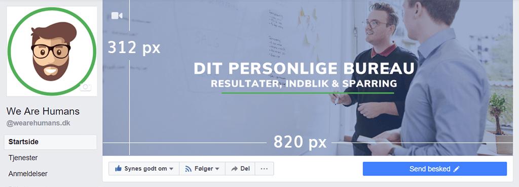 Facebook billedstørrelser Facebook coverbillede størrelse computer 2018