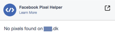 no pixel found facebook pixel