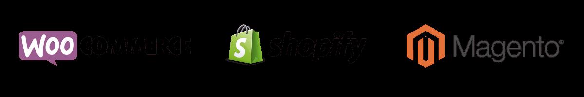 systemer vi arbejder i - shopify, woocommerce, magento