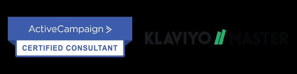 Vi er certficerede konsulenter hos ActiveCampaign og Klaviyo Partner - email markedsføring